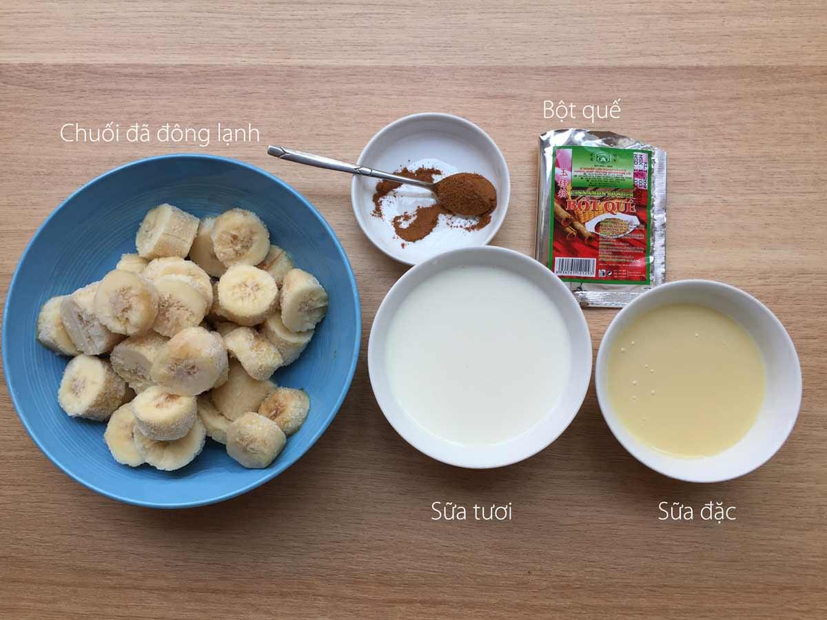 Cách làm kem chuối 1