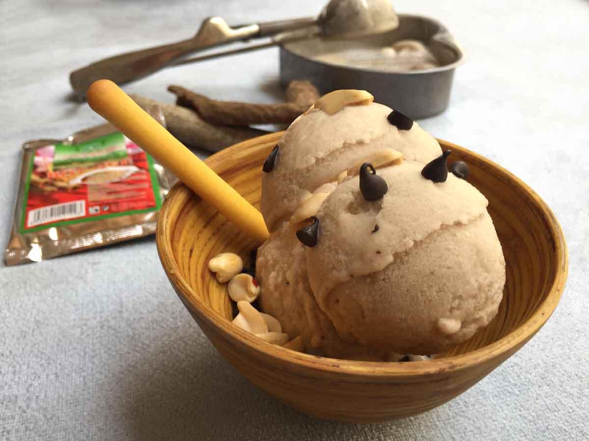 Cách làm kem chuối 5