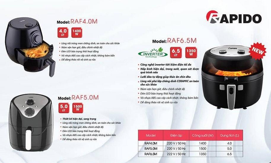 Nồi chiên Rapido RAF5.0M 5L